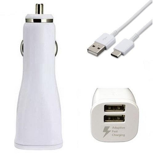 Official Samsung Galaxy Z Flip / Z Flip 5G Dual Fast Car Charger With Cable White - Uk Mobile Store