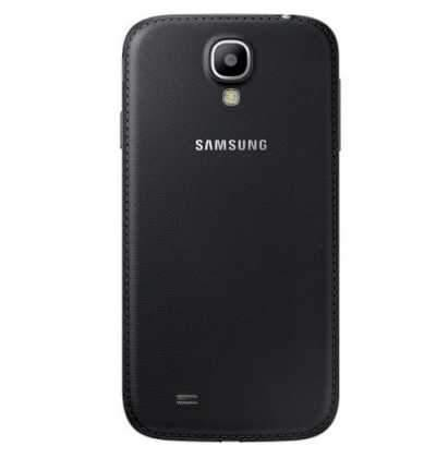 Samsung Galaxy S4 Leather Battery Cover Case - Black