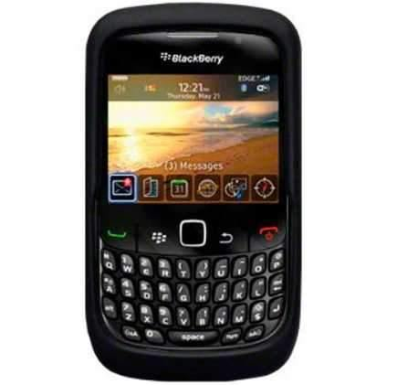BlackBerry Curve 8520 Silicon Skin Case Black