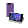 Sony Xperia Z3 Compact Slimline Book Case - Carbon Purple