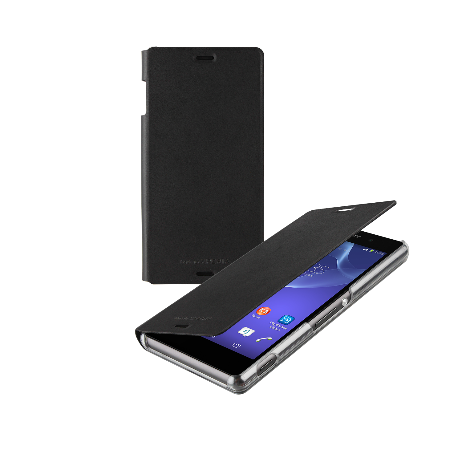 Sony Xperia Z3 Book Case Cover - Black