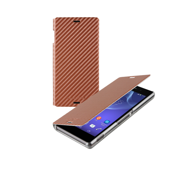 Sony Xperia Z3 Book Case Cover - Bronze