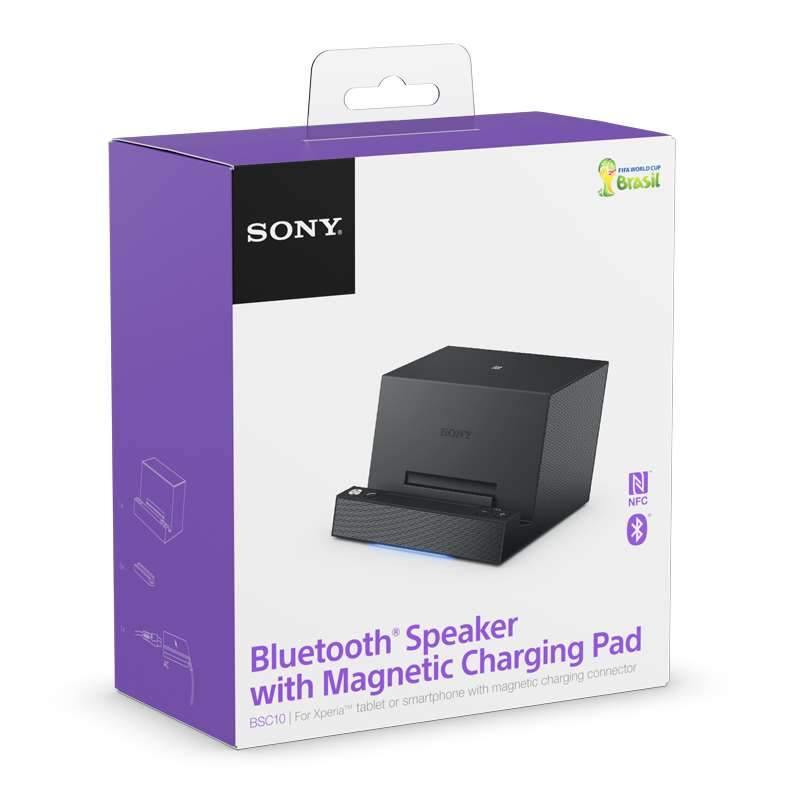 Sony BSC10 Bluetooth Speaker with Magnetic Charging Pad