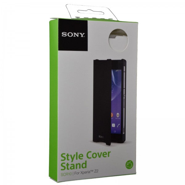 Official Sony Xperia Z2 Style Cover Stand Case White - SCR10