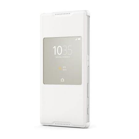 Sony Xperia Z5 Premium Style-Up Smart Window Cover Case - White - Uk Mobile Store