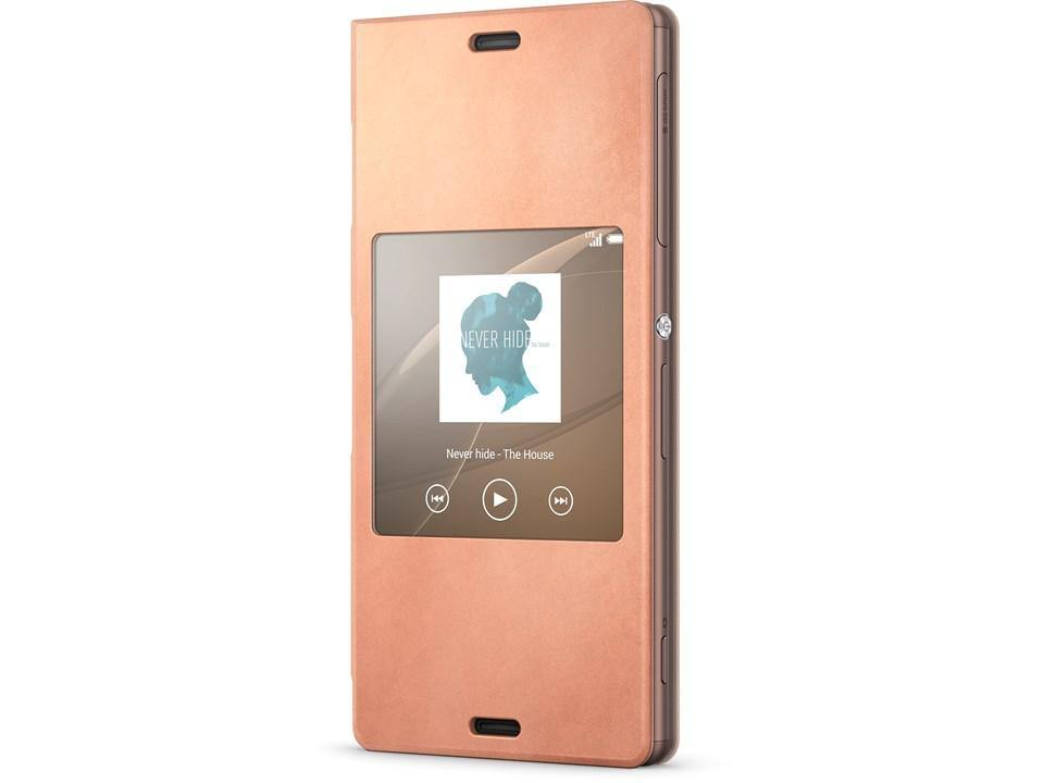 Official Sony Xperia Z3 Style Cover Stand Case SCR24 - Copper