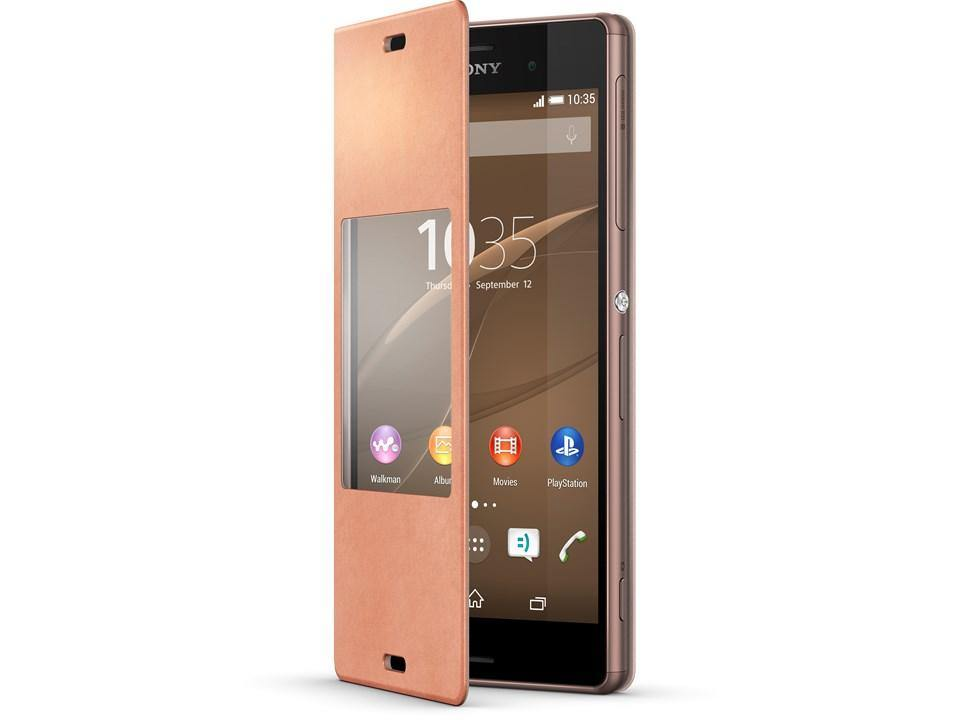 Official Sony Xperia Z3 Style Cover Stand Case SCR24 - Copper - Uk Mobile Store