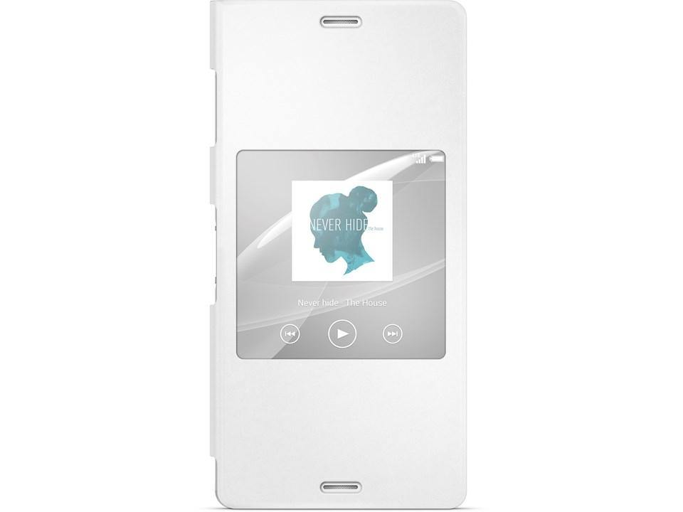 Official Sony Xperia Z3 Style Cover Stand Case SCR24 - White