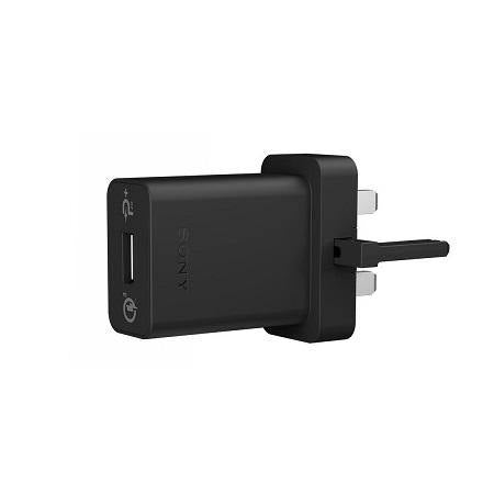 Sony Xperia 10 Qualcomm 3.0 UK Mains Charger and USB-C Cable Black