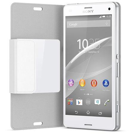 Official Sony Xperia Z3 Compact Style Cover Stand Case SCR26 - White