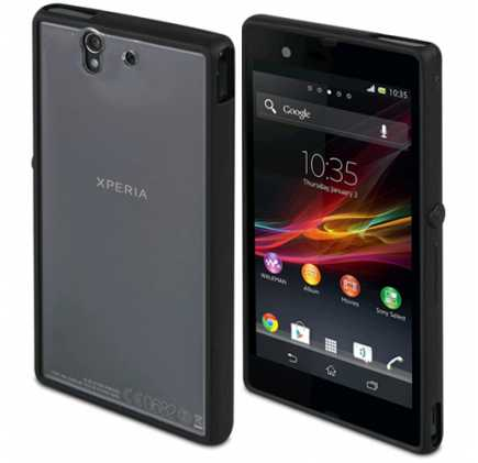 Sony Xperia Z1 Compact Gel Shell Case - Black