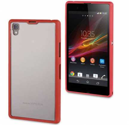 Sony Xperia Z1 Gel Shell Case - Monza Red