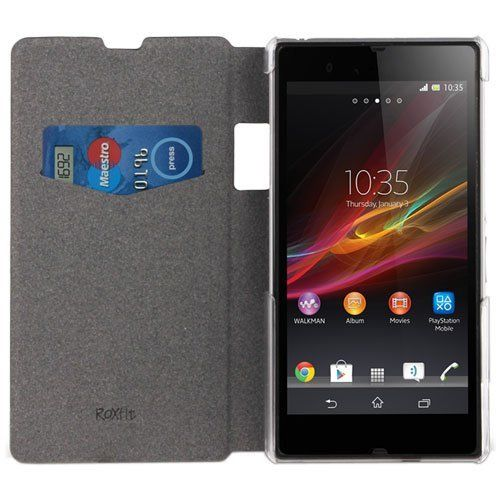 Sony Xperia Z1 Compact Book Flip Case - Nero Black