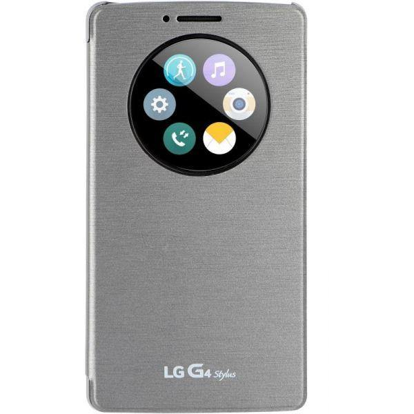 LG G4 Stylus QuickCircle Snap On Case Silver - Uk Mobile Store