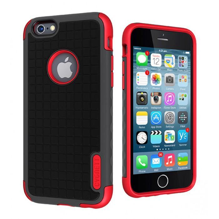 Cygnett iPhone 6 / 6S Workmate Case Black/Red - CY1668CPWOR