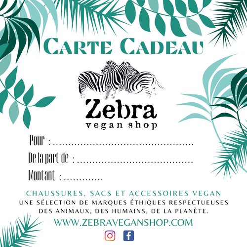 Carte-cadeau Zebra Vegan Shop