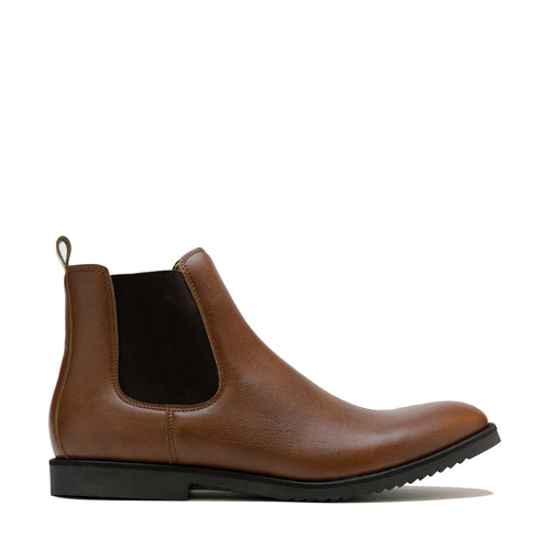 bottines Chelsea homme vegan marron