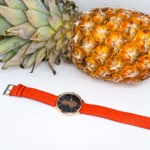 montre vegan pinatex