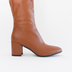 bottes marron talon vegan