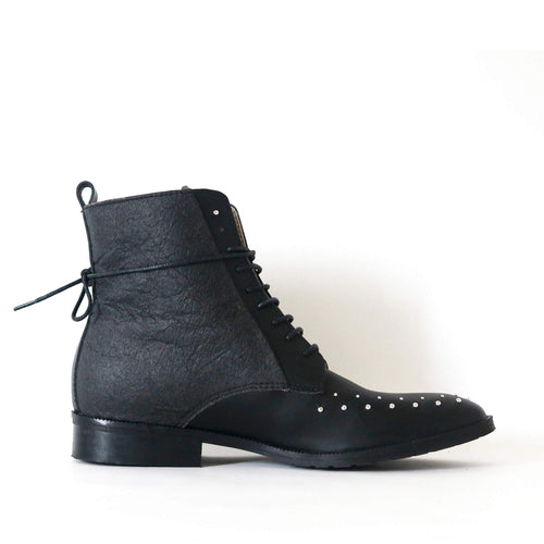 bottines vegan pinatex