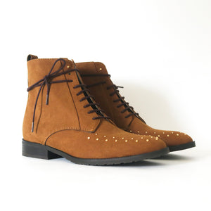 bottines vegan daim
