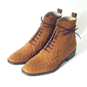 bottines lacets marrons