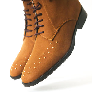 bottines a lacet daim vegan