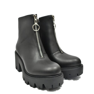 bottines plateform zip