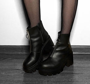 bottines vegan rock punk