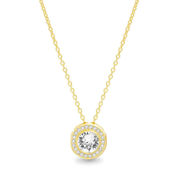 Swarovski Crystals Classic Round Halo Necklace