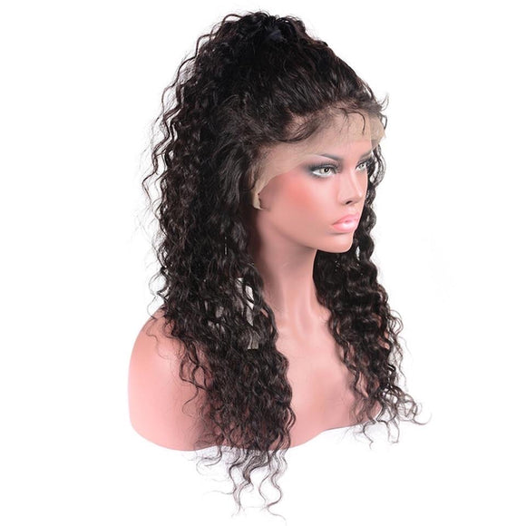 13x4 Lace Front Human Hair Wig Remy Brazilian Water Wave Lace Front Wig Pre Plucked With Baby Hair