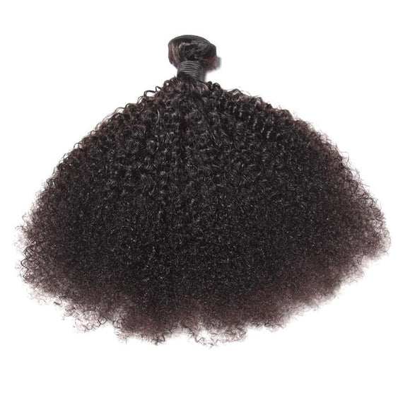 Natural Color Mongolian Hair Afro Kinky Curly Hair Weave, Hair Weave Bundles