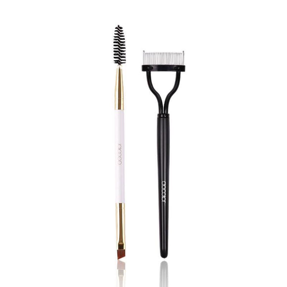 New 2PCS Eye Makeup Brush Tools Eyebrow Brush Eyelash Comb Beauty Essential Makeup Tools