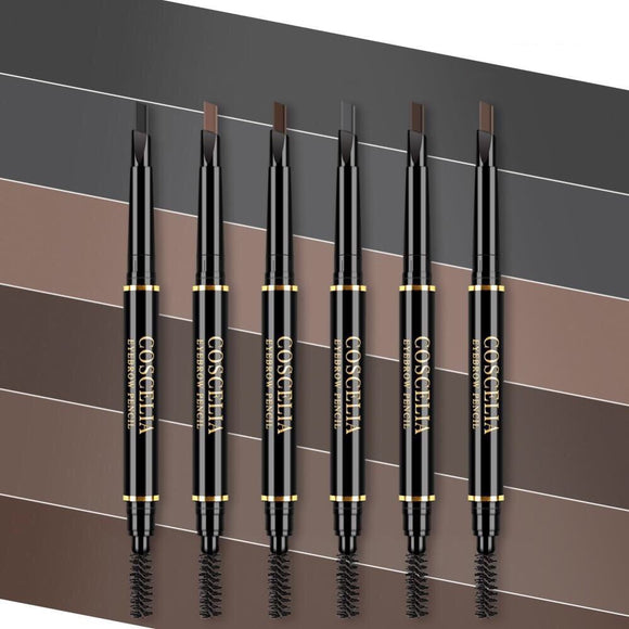 COSCELIA 6 Colors Double-Ended Eyebrow Pencil