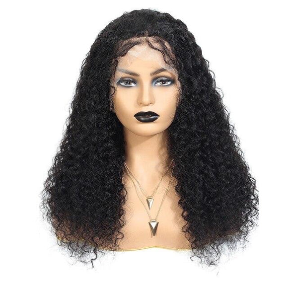 Curly Lace Frontal Human Hair Brazilian Remy Hair Middle Ratio Full Lace Wig