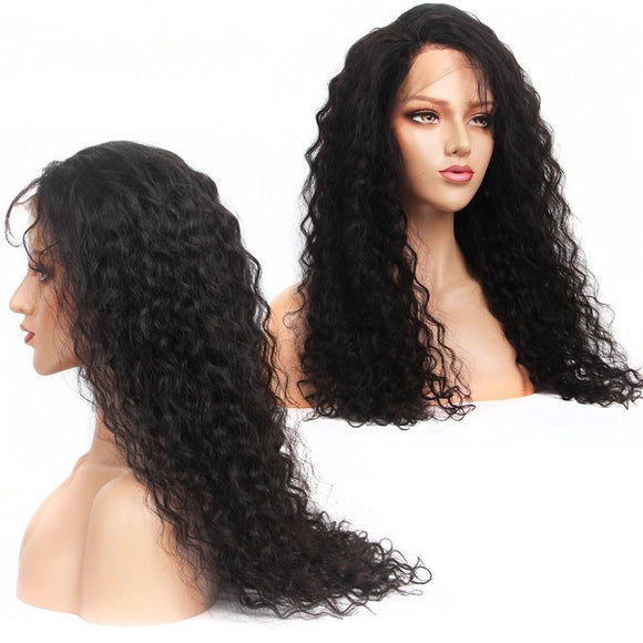 Water Wave 360 Lace Frontal Human Hair Wig Remy Brazilian Hair