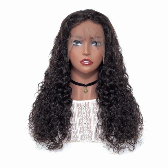 13X4 Water Wave Lace Front Wig Mongolian Human Hair Lace Wig