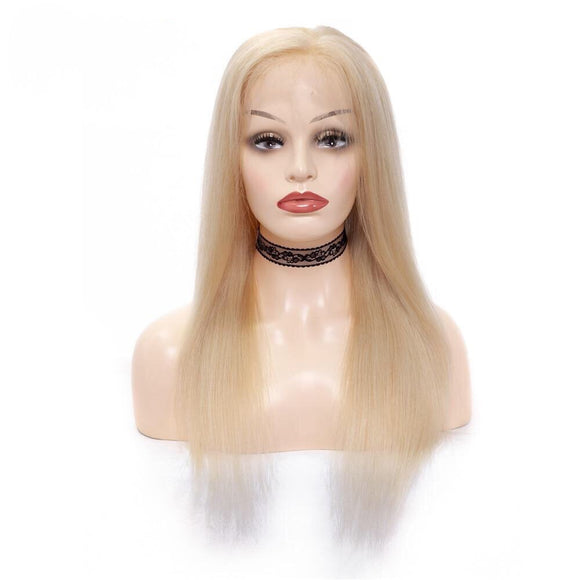 Straight Brazilian 613 Blonde 360 Lace Frontal Wig Pre-Plucked With Baby Hair