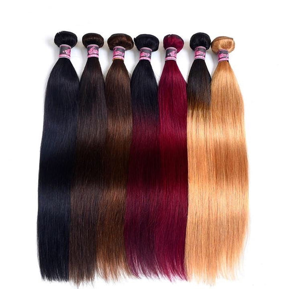 Brazilian Straight Hair Weave Bundles, Non Remy Human Hair Bundles