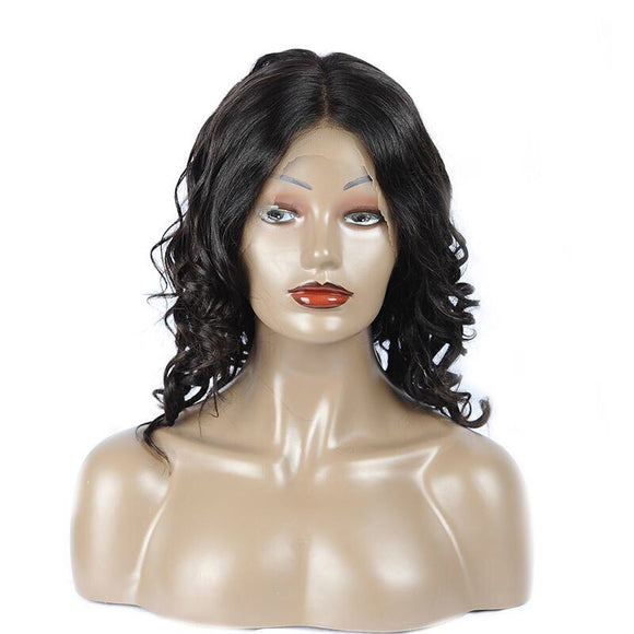 Brazilian Short Loose Wave Closure Wig Pre-Plucked Baby Hair 360 Full Lace Human Hair Wig