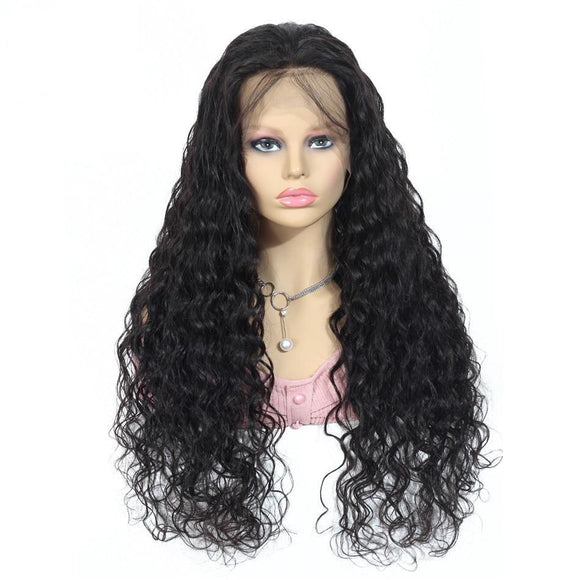 Water Wave 360 Lace Frontal Human Hair Wig 150% Density