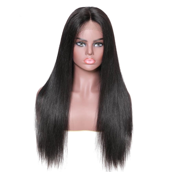 Straight Full Lace Human Hair Wig Brazilian Remy Hair Lace Front Wig With Natural Hairline