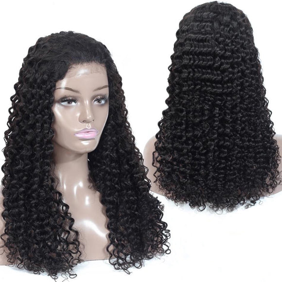 Peruvian Deep Wave Pre Plucked Full Lace Human Hair Wigs With Baby Hair