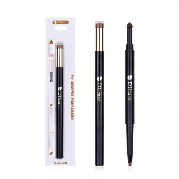 3-IN-1 Eye Kit Brown Eyeliner Brow Powder Brow Brush