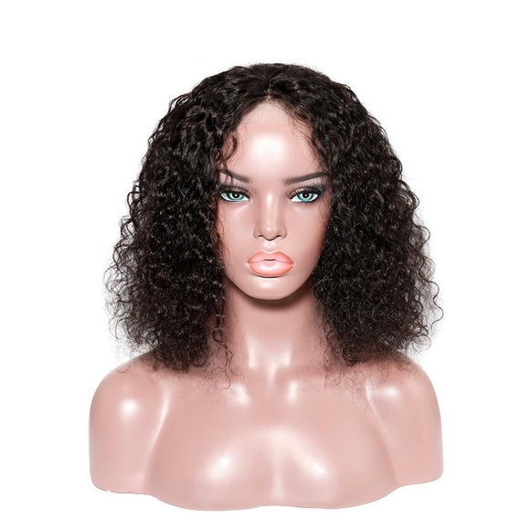 Short Curly Brazilian Straight Remy 150% Pre Plucked With Baby Hair Transparent 13x6 Bob Lace Front Wig