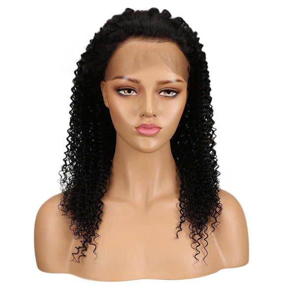 Curly Lace Front Human Hair Brazilian Lace Wig Frontal Plucked Full End Can Make 360 Circle