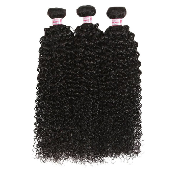 Ombre Kinky Curly Human Hair Extensions Blonde Brown Curly Bundles Brazilian Weaves