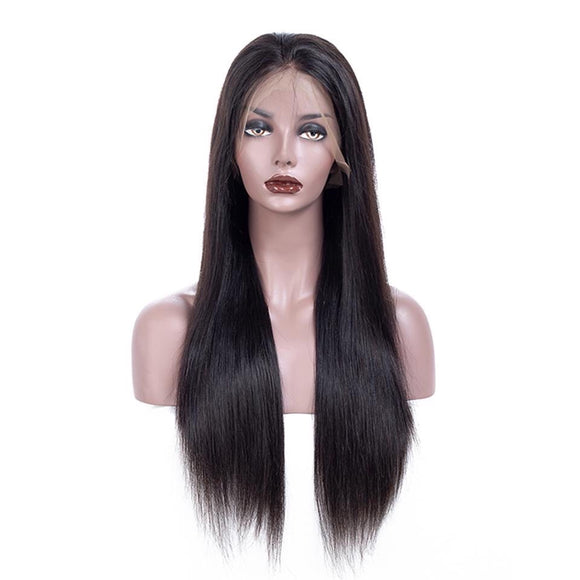 Straight Hair Full Lace Wig Pre-Plucked With Baby Hair Brazilian Remy Hair Wig