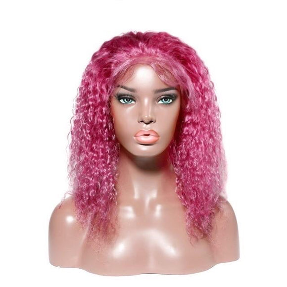 13x4 13x6 Colored Short Deep Wave Curly Lace Front Wig 150% Density