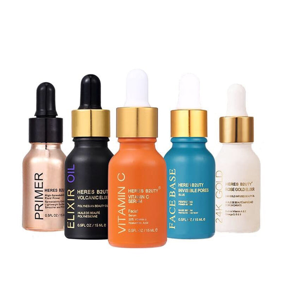 24k Rose Gold/Elixir Oil/Vitamin C Oil/Invisible Pores Face Base/Primer